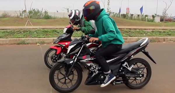 Adu Drag Honda Sonic vs Jupiter MX King