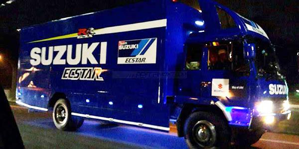 Truk Satria F150 injeksi Livery MotoGP Shooting iklan