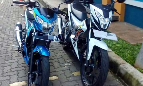 All New Satria Injeksi vs Honda Sonic 150R