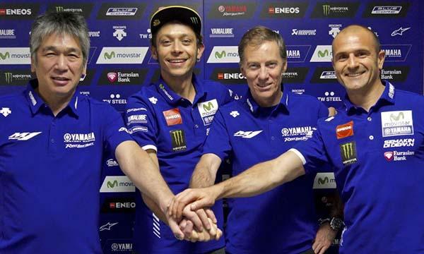 Yamaha perpanjang kontrak Valentino Rossi hingga 2018