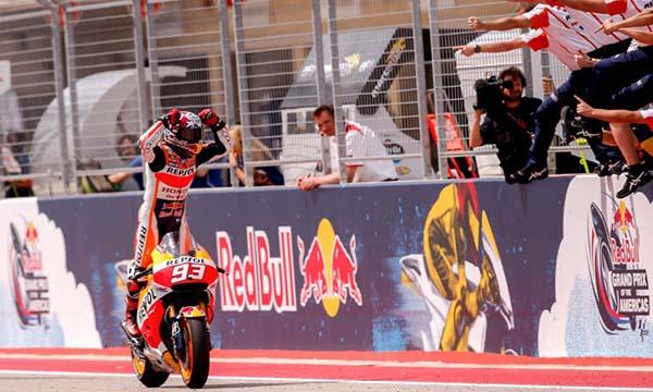 Marc Marquez menangkan MotoGP Amerika 2015