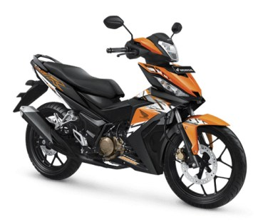 Pilihan Warna Honda Supra GTR 150 Sporty warna Nictic Orange