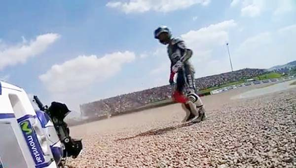 Lorenzo crash di Jerman