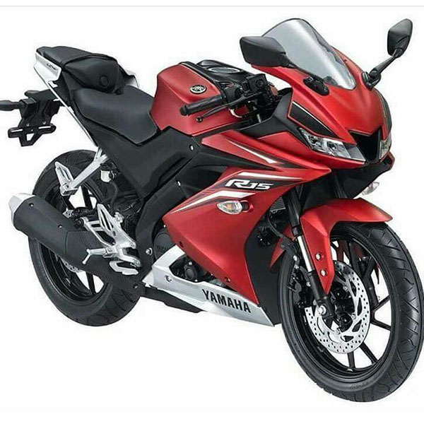 All New Yamaha R15 Matte Red studio