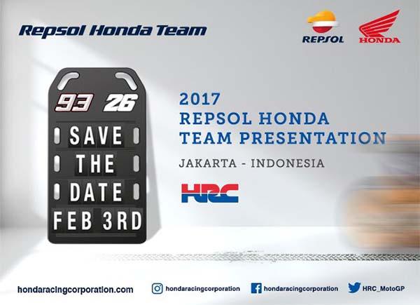Launching tim 2017 Honda MotoGP