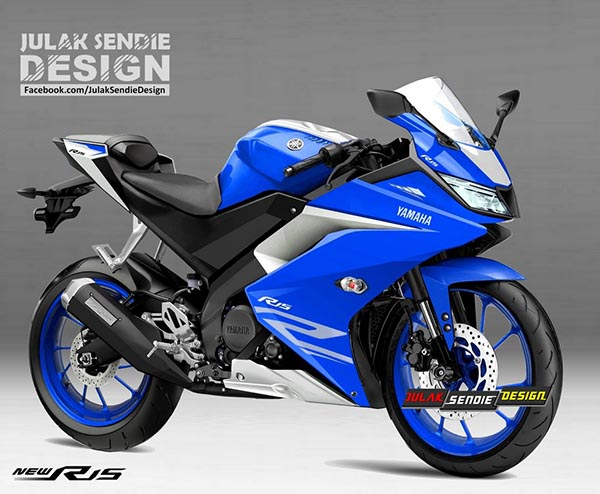 Render New Yamaha R15 2017 Racing Blue