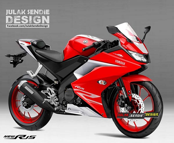 Render New Yamaha R15 2017 Red