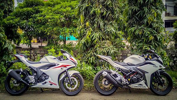 GSX-R150 dan Honda CBR150R