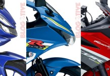 All New R15, GSX-R150 dan All New CBR150R