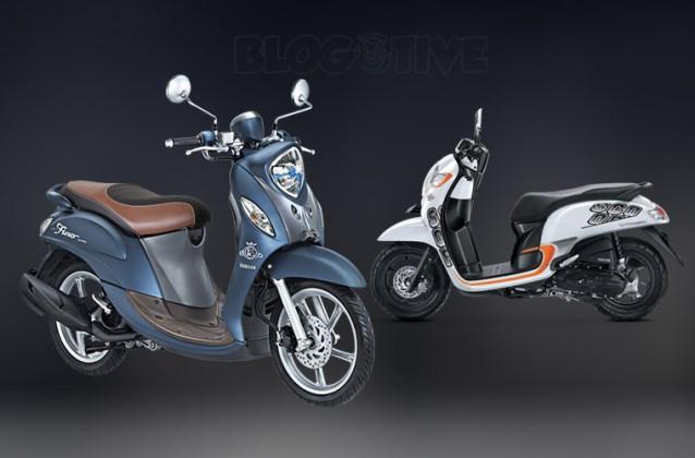 All New Scoopy vs Yamaha Fino Grande