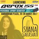 Launching Yamaha Aerox 155 di Yogyakarta ada Isyana Sarasvati