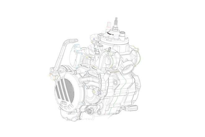 Mesin Motor 2 tak Injeksi KTM