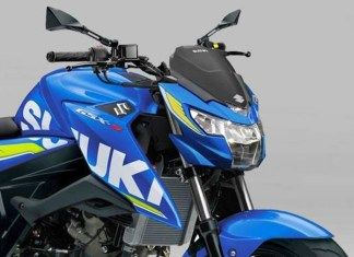 Suzuki GSX-S150 pakai headlamp Satria Injeksi