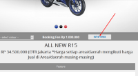 155 Unit All New R15 habis dipesan