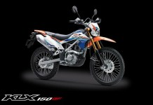Kawasaki KLX 150BF Special Edition USD Gold warna Orange