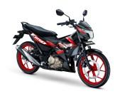 All New Satria F150 Warna Titan Black Red CW Gambar HD