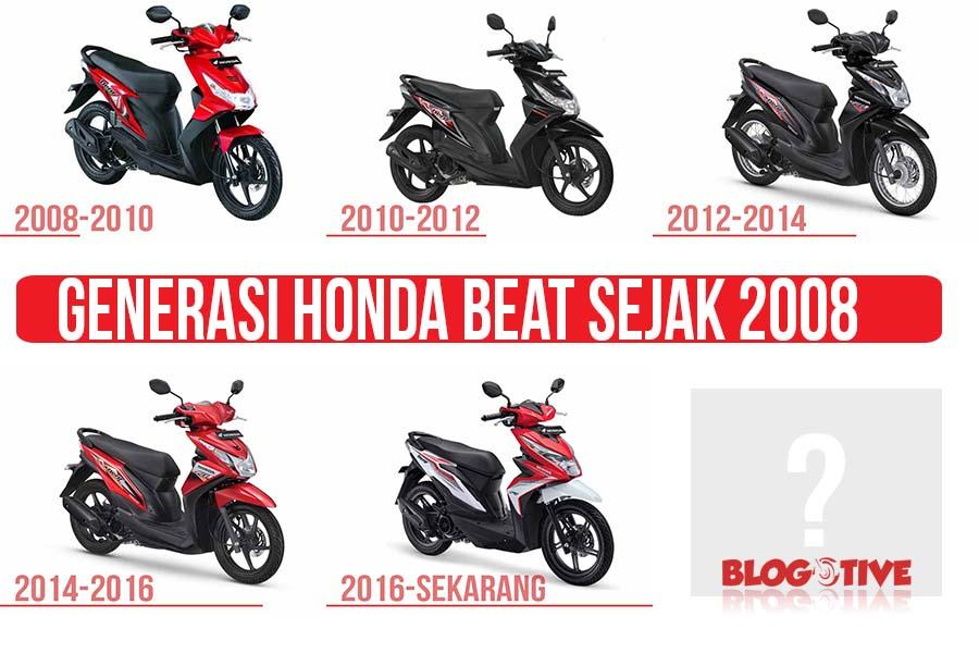 Generasi Honda BeAT dari tahun ke tahun