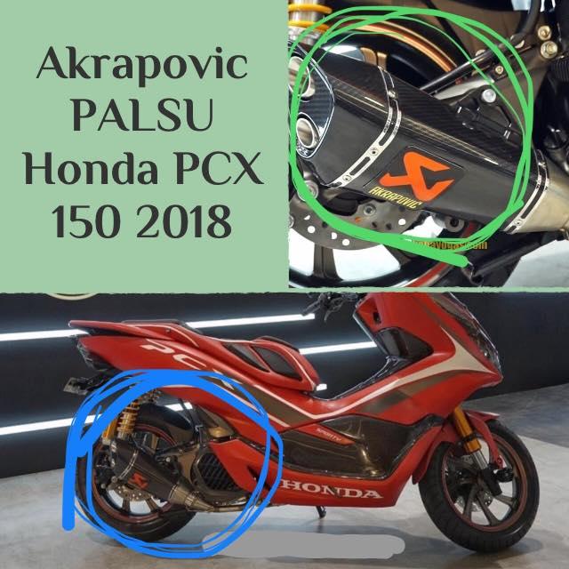 Modifikasi Honda PCX Knalpot Akrapovic