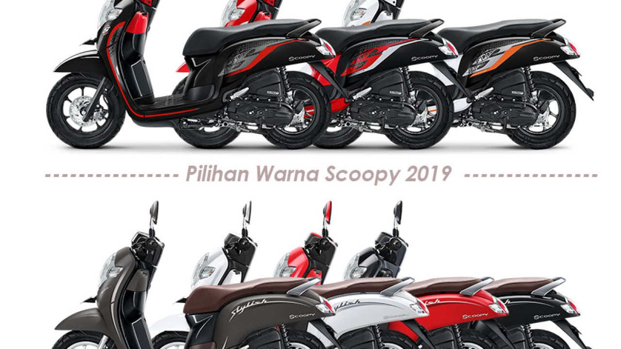 7 Pilihan Warna Scoopy 2019 Dua Model Sporty Dan Stylish Blogotive