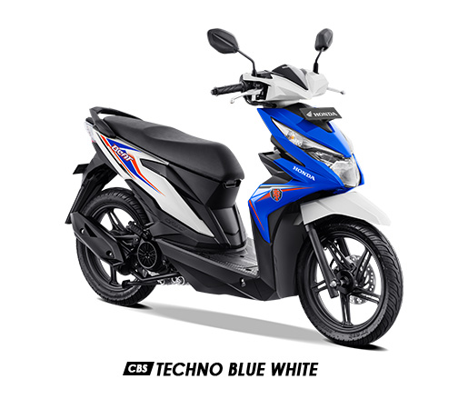 Warna BeAT 2019 CBS Biru Putih Techno Blue White
