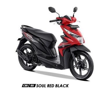 Warna BeAT 2019 CBS ISS Merah Soul Red Black