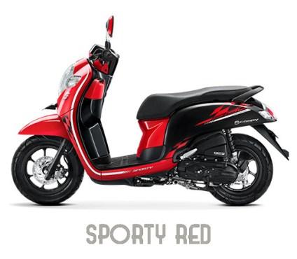 Warna Scoopy 2018 Sporty Red