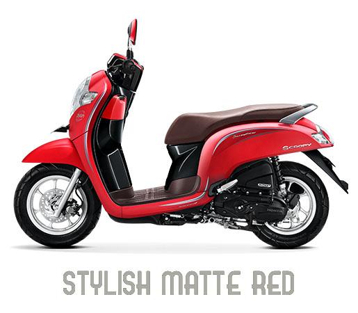 Warna Scoopy 2018 Stylish Merah Doff