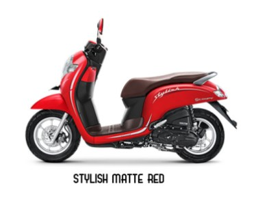 Warna Scoopy 2019 Stylish Merah Doff