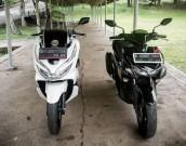 Honda PCX dan Yamaha Aerox bersanding