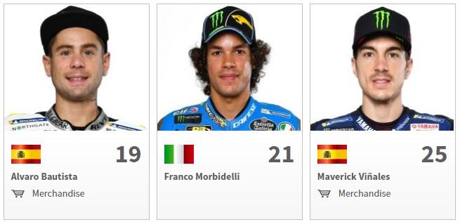 Nama Pembalap MotoGP 2018 Bautista, Morbidelli, Vinales
