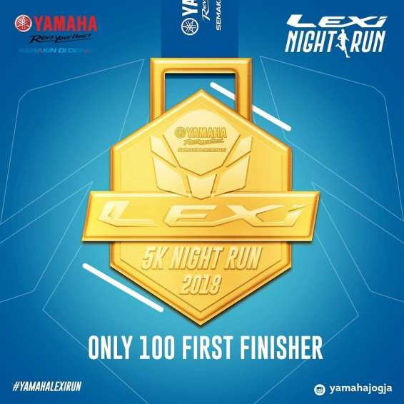 Hadiah Launching Yamaha Lexi Night Run emas
