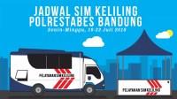 Jadwal SIM Keliling Bandung 16-22 Juli 2018