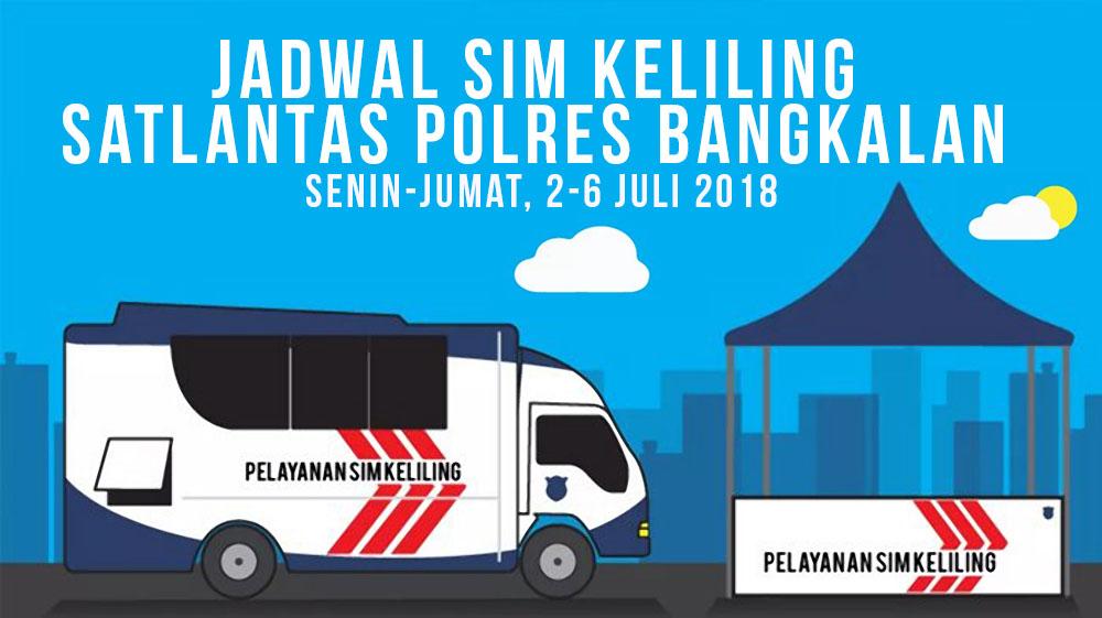 Jadwal SIM Keliling Bangkalan Madura 2-6 Juli 2018
