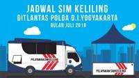 Jadwal SIM Keliling Yogyakarta bulan Juli 2018