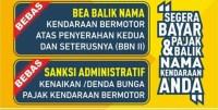 Infografis Pemutihan Pajak Kendaraan Bermotor Jawa Timur
