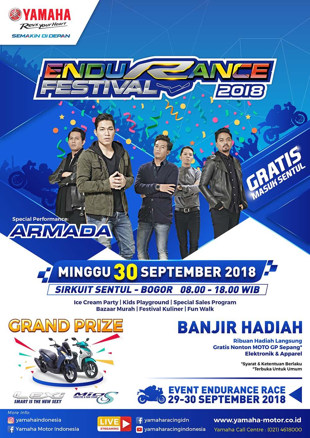 Yamaha Endurance Festival 2018 bersama Armada
