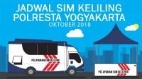Jadwal SIM Kelililing Polresta Yogyakarta bulan Oktober 2018