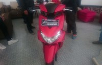 Launching Yamaha FreeGo di Jogja, warna merah doff