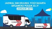 Jadwal SIM Keliling Yogyakarta Januari 2019 Ditlantas Polda DIY