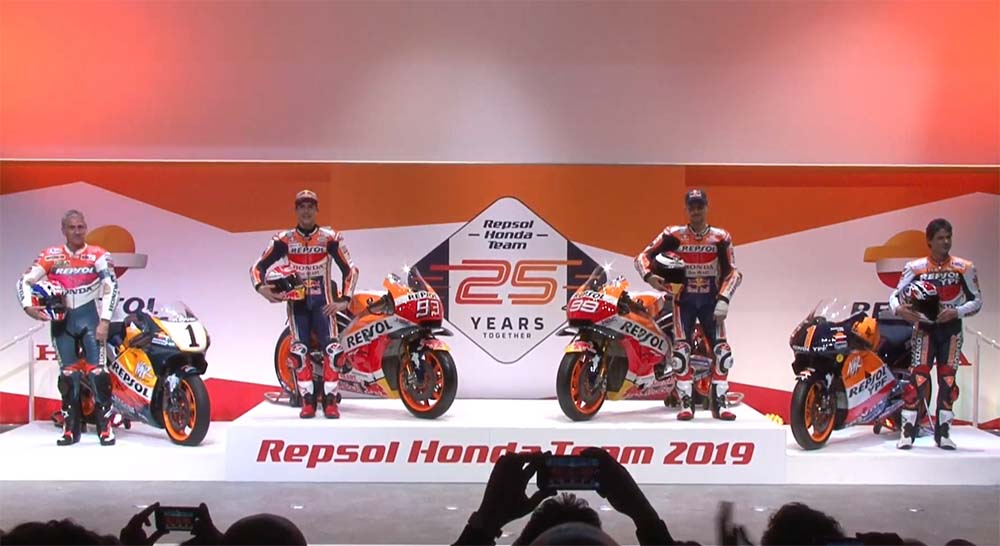 Repsol Honda Team 2019. Official Presentation