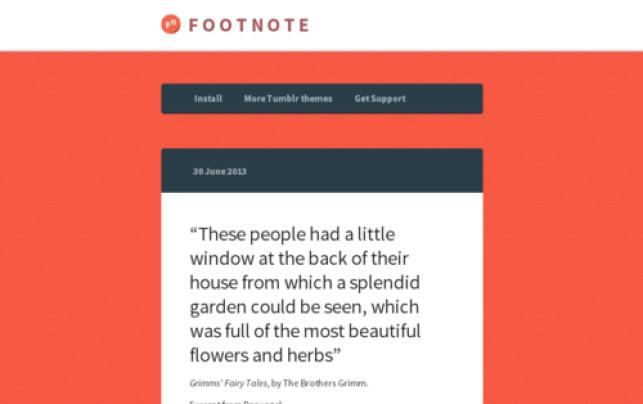 Footnote one column Tumblr Theme