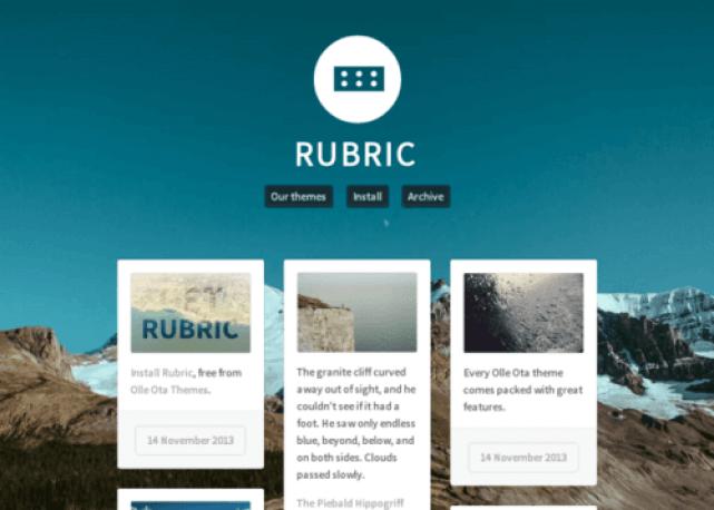Rubric Tumblr Theme