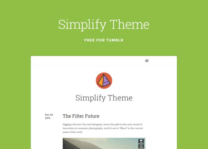Simplify Tumblr Theme
