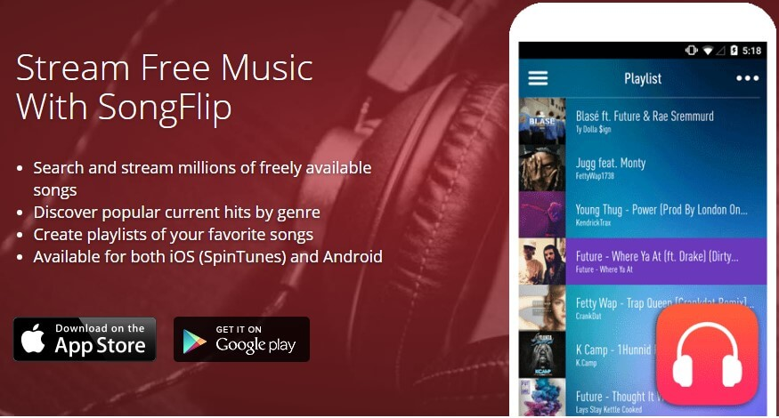 Download SongFlip free music app
