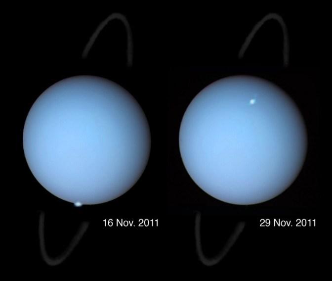 Questa immagine ha l'attributo alt vuoto; il nome del file è Urano_aurora_11_29_2011_hubble.jpg