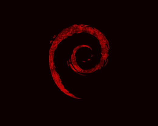 Debian Black Red Wallpaper - Blog Porta 80