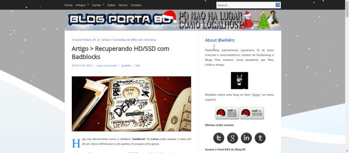 Decoração de Natal Blog Porta 80