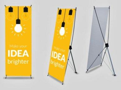 Ukuran standar x banner