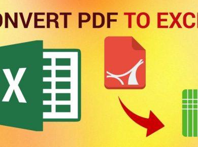 Cara Ubah PDF ke Excel
