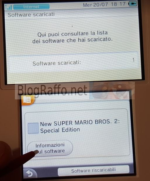 Nintendo 2DS recuperare software cancellato supermario bross